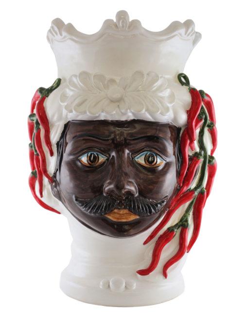 testa di moro Carmelo grande ceramica Caltagirone