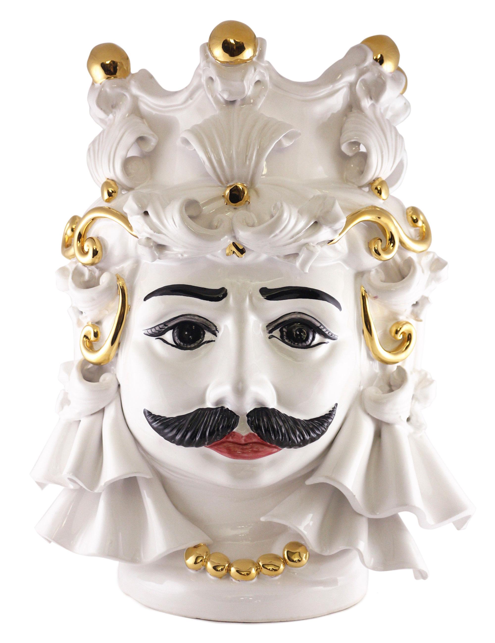 testa di moro grande Mimmo decorazione oro
