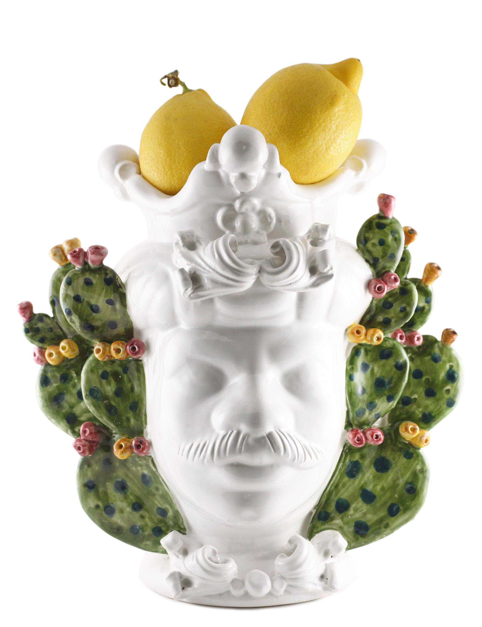 testa di moro Gaspare dimensione media decorazione fichi d'india e limoni