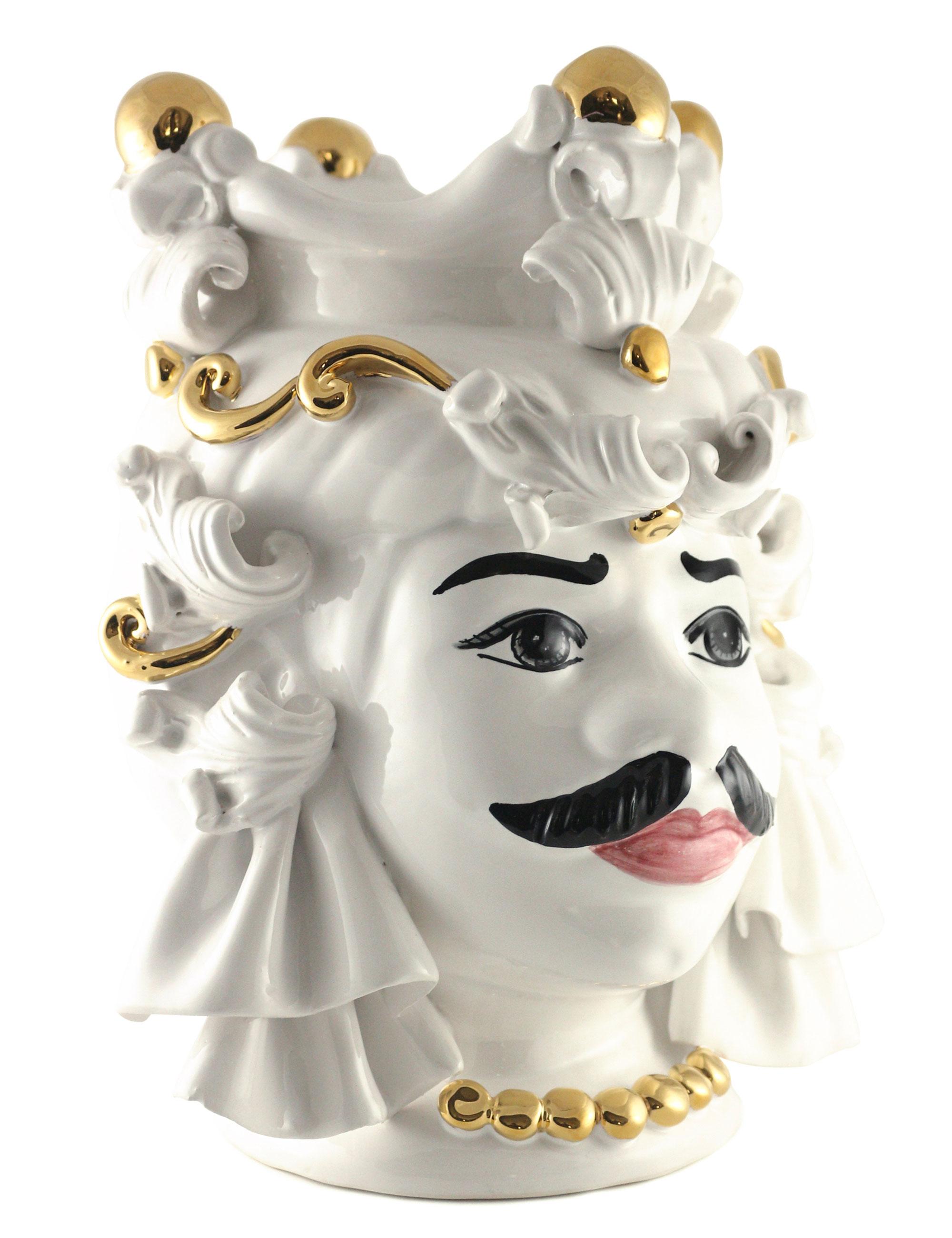 testa di moro Mimmo dimensione media decorazione oro laterale