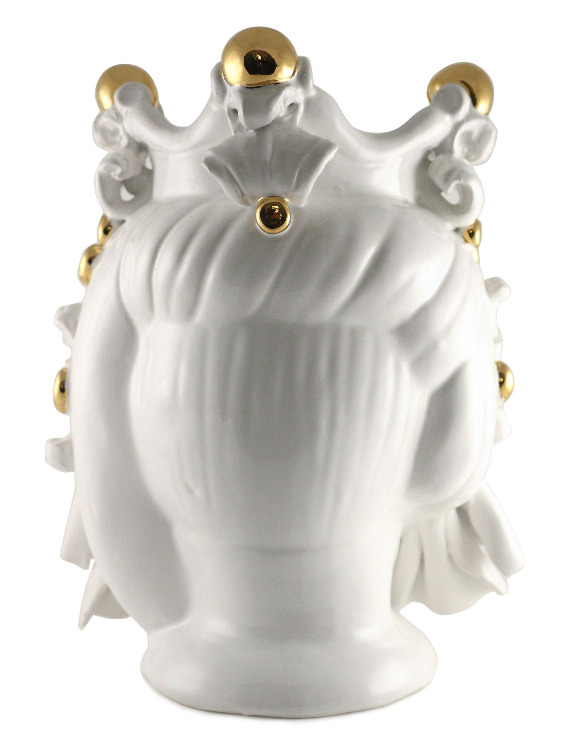 testa di moro Mimmo dimensione media decorazione oro posteriore
