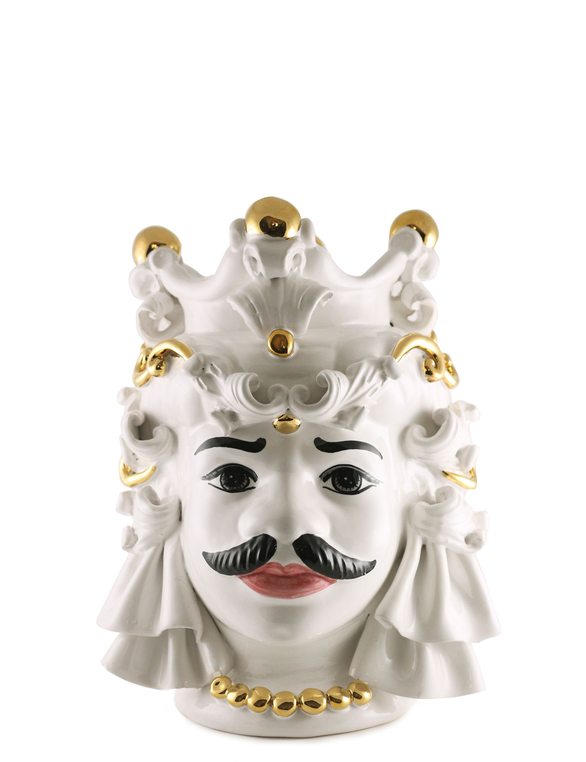 testa di moro Mimmo dimensione media decorazione oro