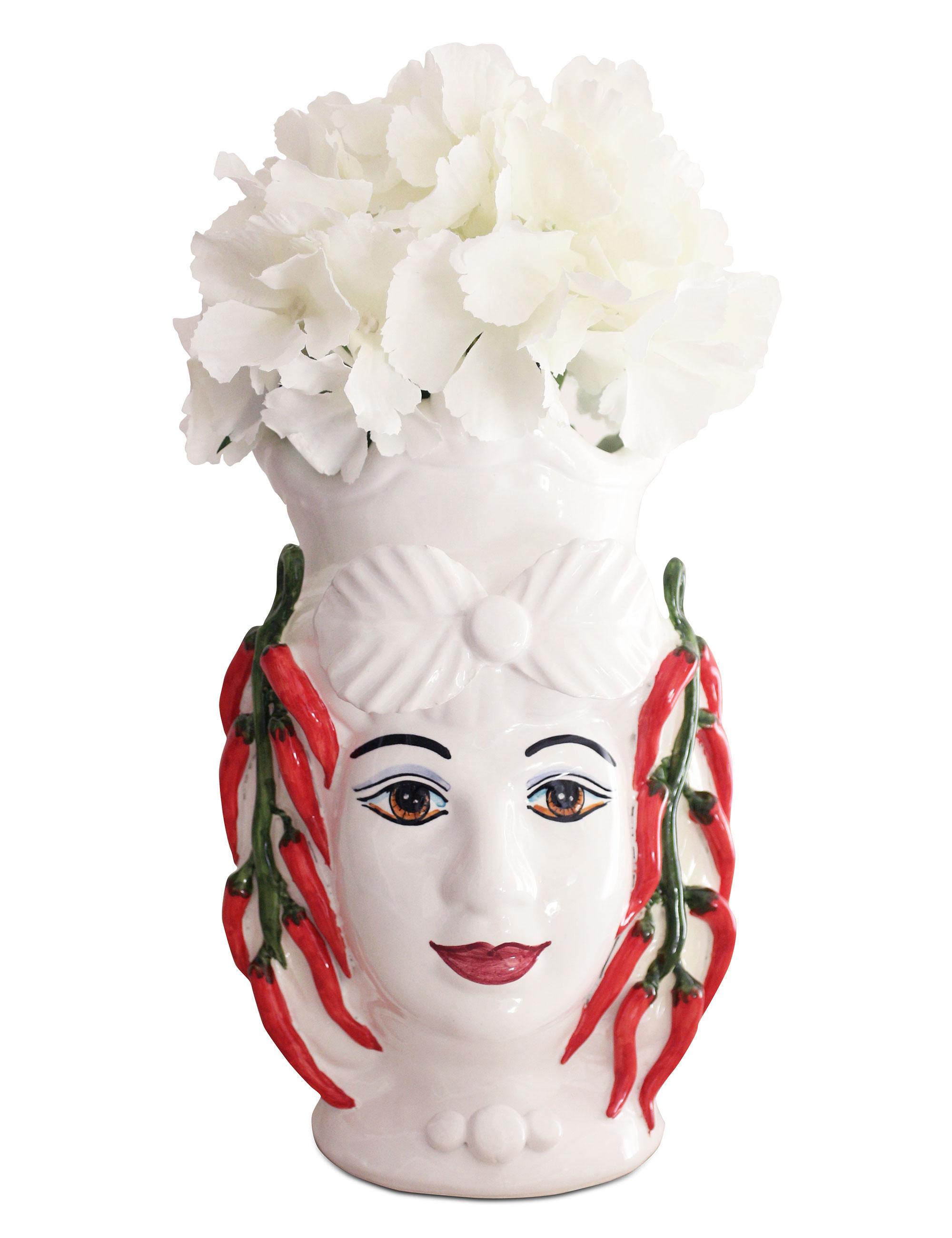 testa di moro media Ninella fiori bianchi