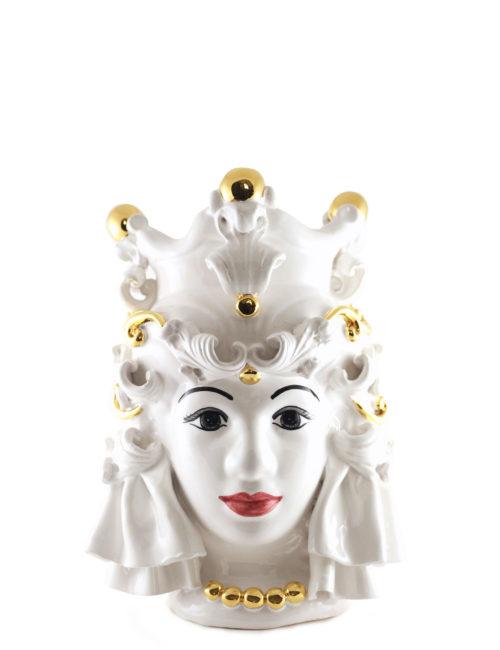 testa di moro media Nora decorazione oro ceramica maremoro