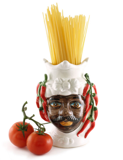 testa di moro Carmelo piccola peperoncini pomodori spaghetti