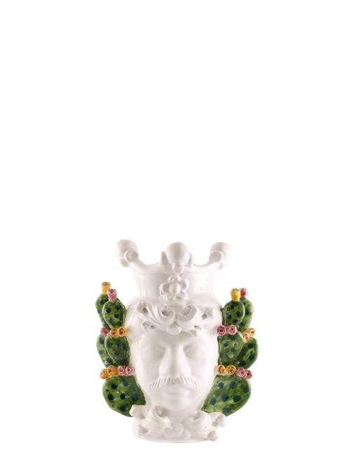 testa di moro Gaspare dimensione piccola decorazione fichi d'india