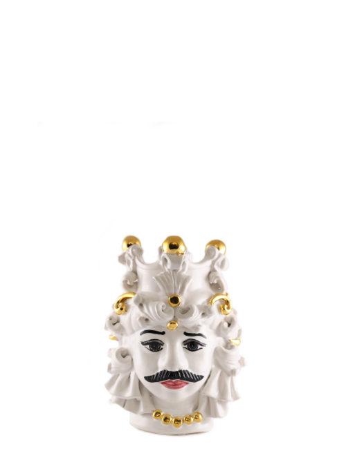 testa di moro Mimmo dimensione piccola decorazione oro