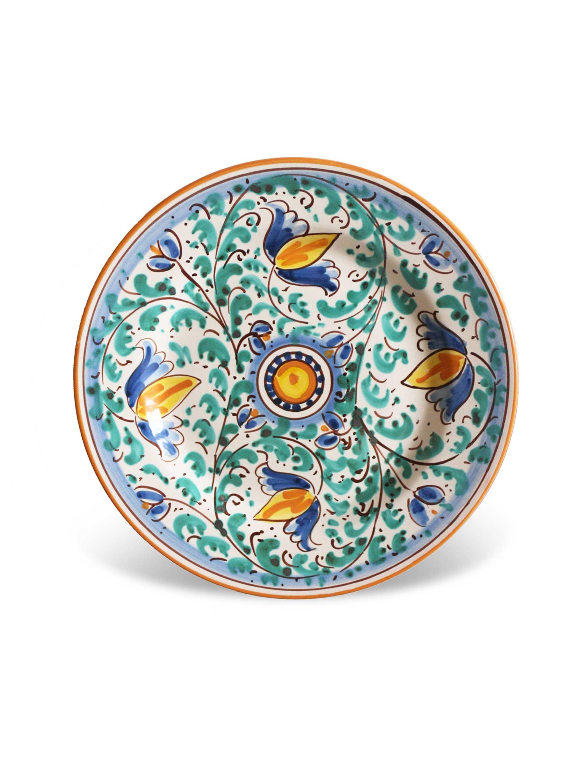 Piatti In Ceramica Prezzi.Piatti Ceramica Caltagirone Set Limiuni Maremoro