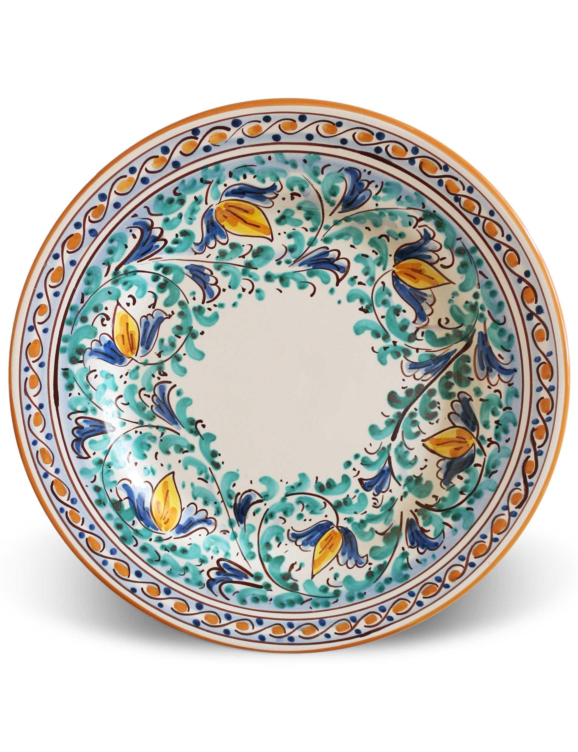 Piatti ceramica caltagirone set limiuni maremoro - Piatti di frutta decorati ...