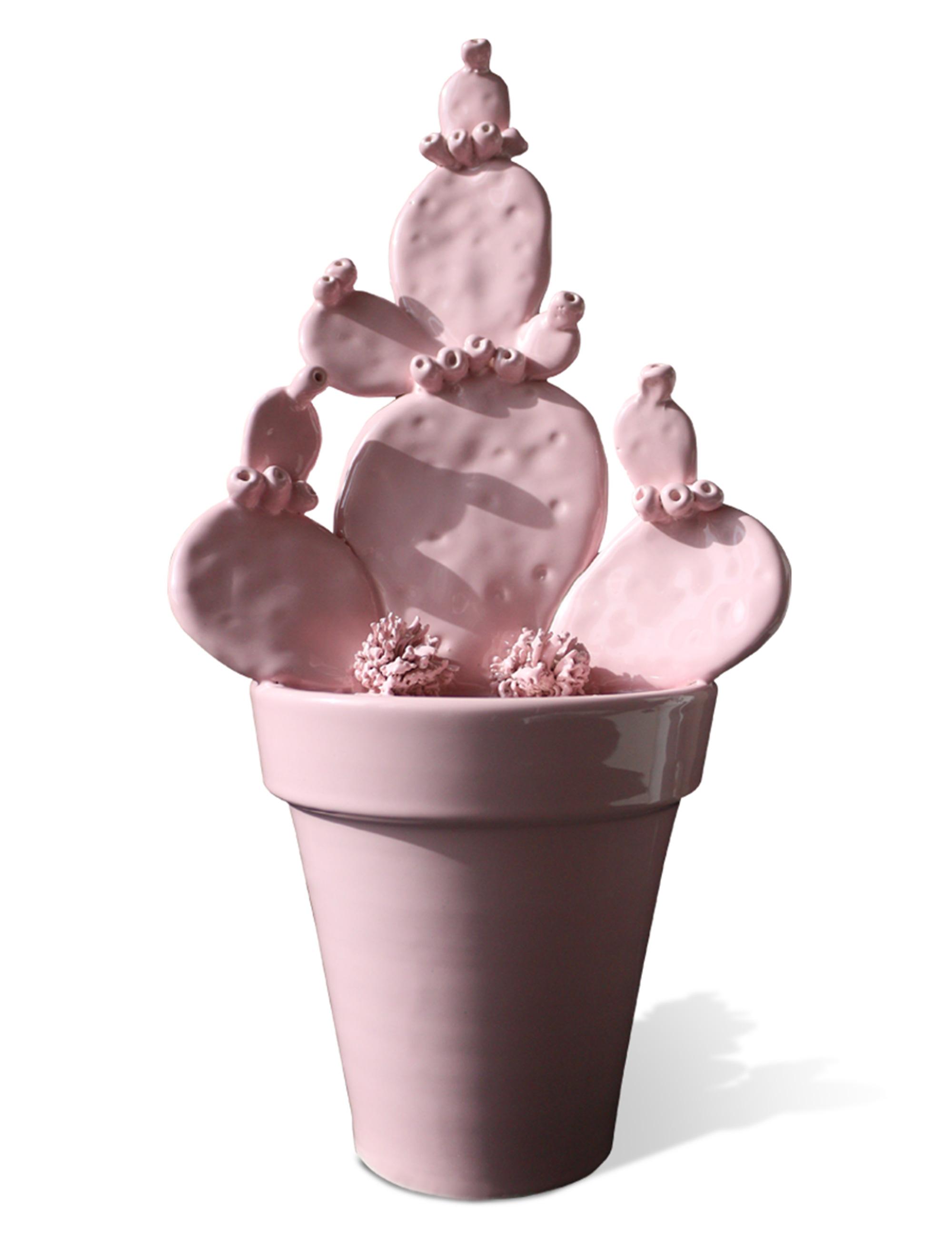 Fico d'India vaso in ceramica di Caltagirone