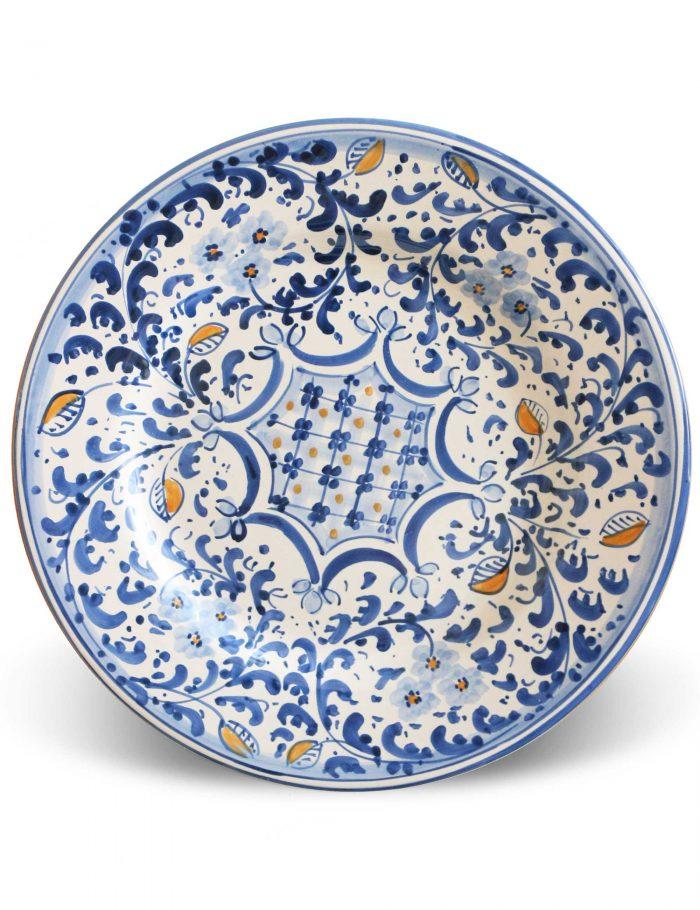 Piatto piano ceramica siciliana decorata ACIREALE