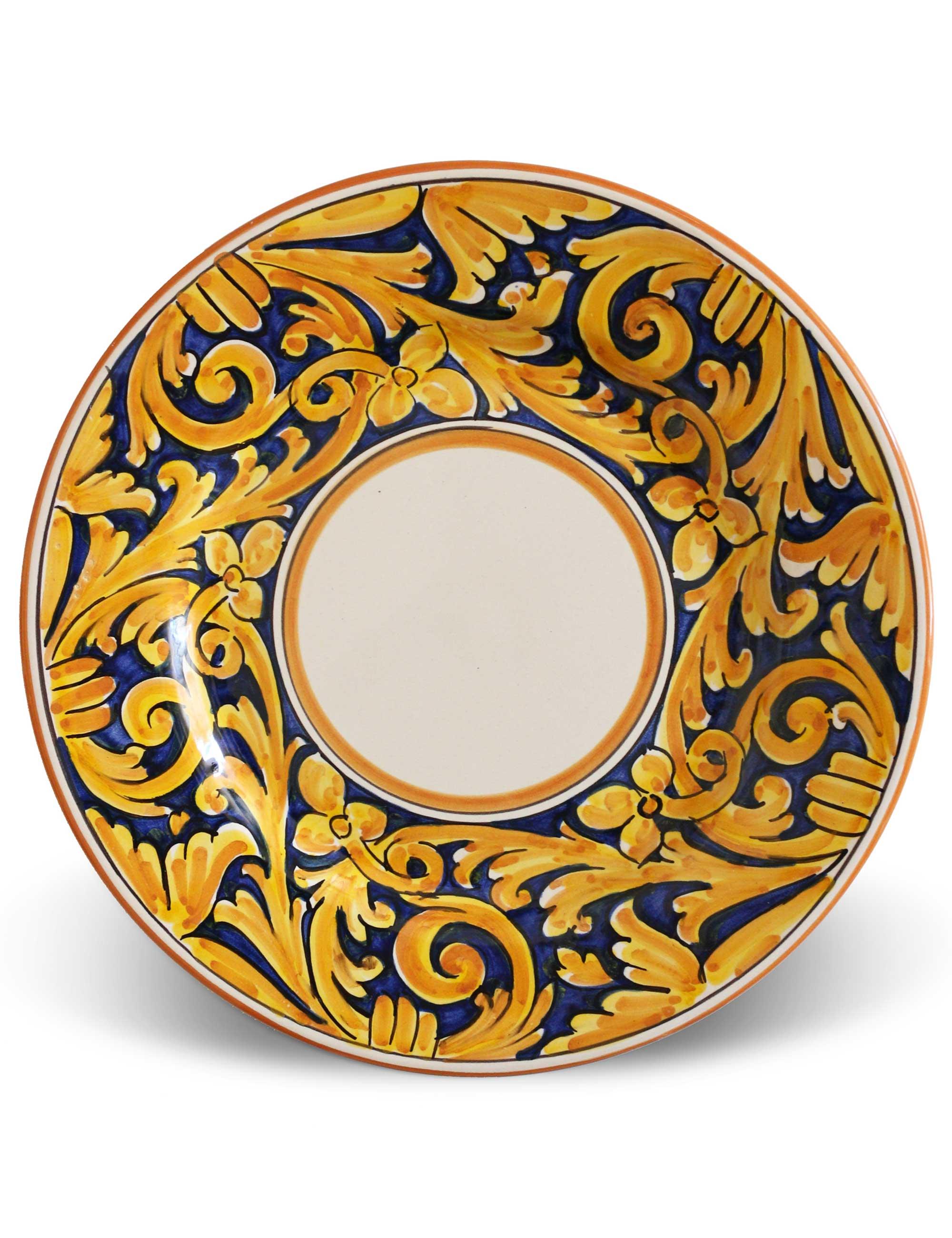 Piatto piano ceramica decorata siciliana AGRIGENTO