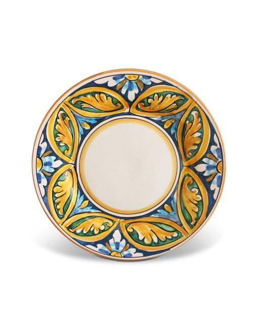 Piatto dessert ceramica Caltagirone Alicudi