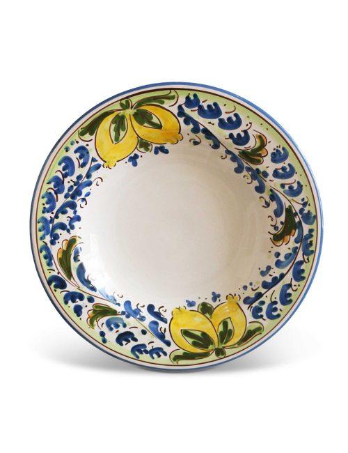 Piatto fondo ceramica siciliana artigianale AVOLA
