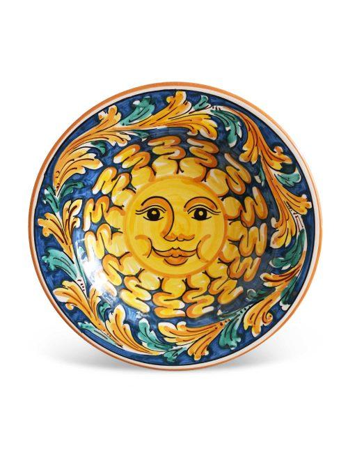 Piatto fondo ceramica artigianale siciliana CALTAGIRONE