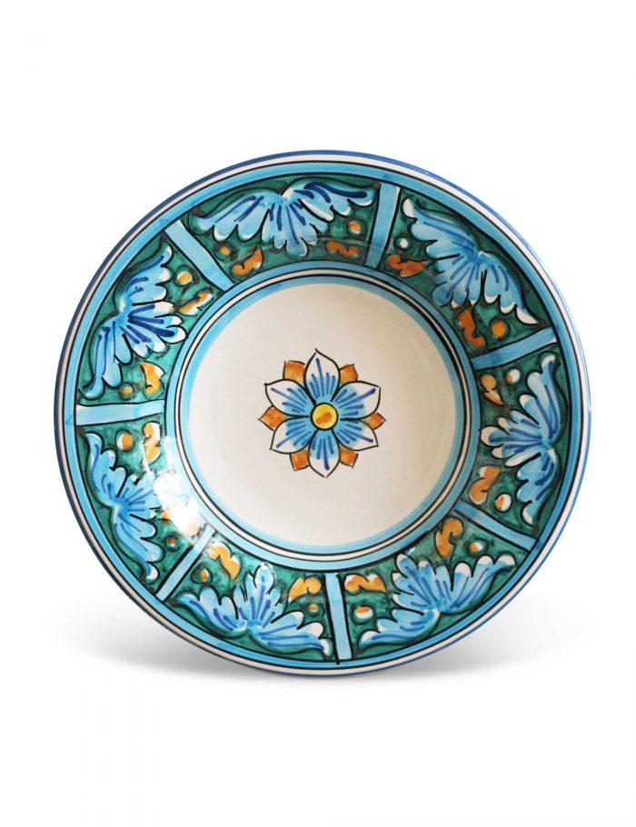 Piatto fondo ceramica siciliana CATANIA