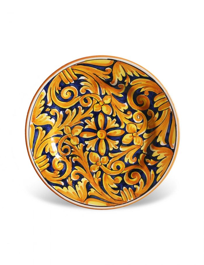 Piatto dessert ceramica artigianale siciliana FAVIGNANA