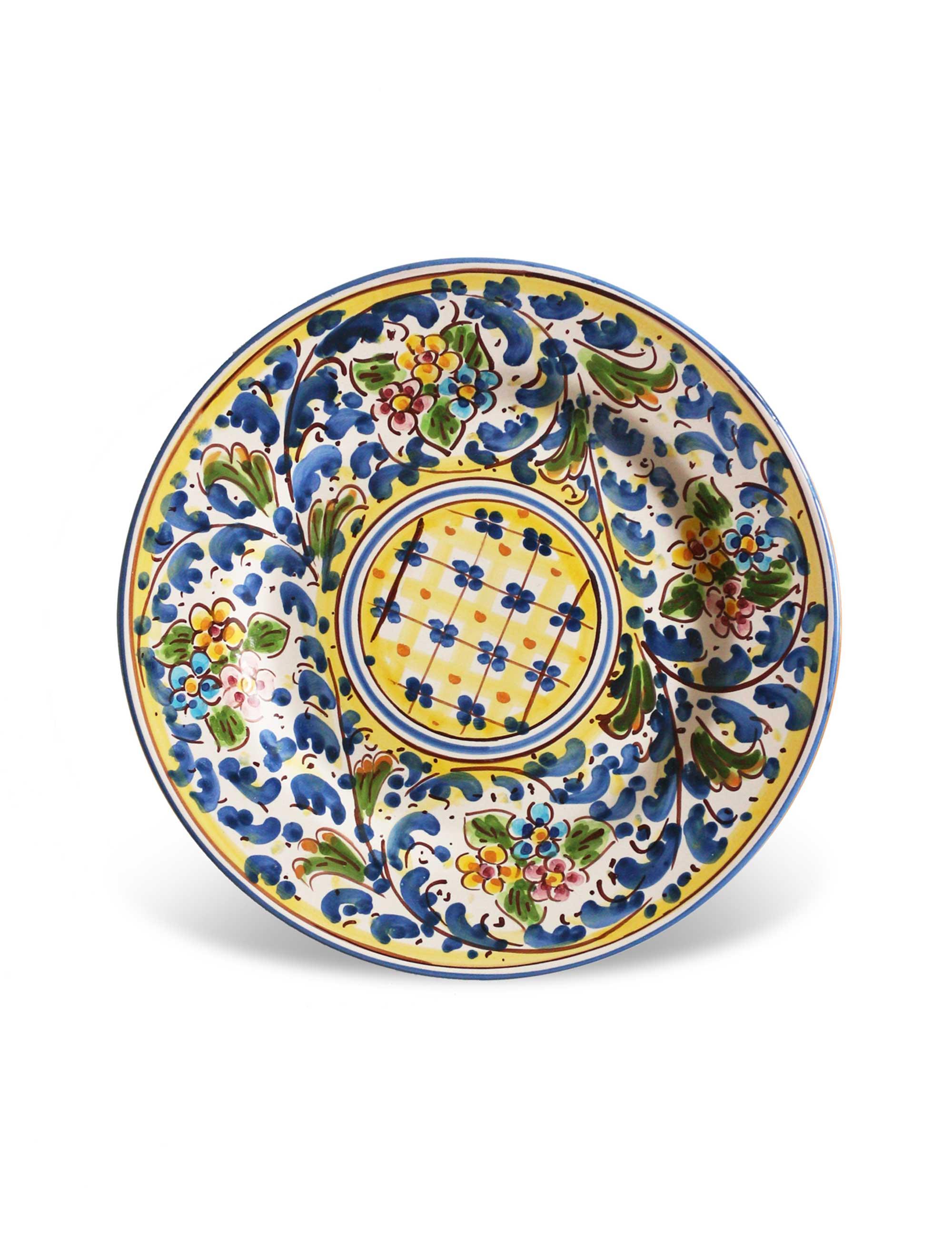 piatto dessert ceramica siciliana artigianale Marettimo