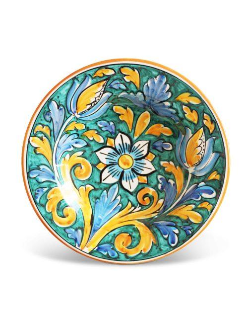 Piatto fondo ceramica siciliana MARZAMEMI