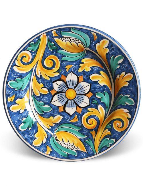 Piatto piano ceramica artigianale siciliana MONDELLO