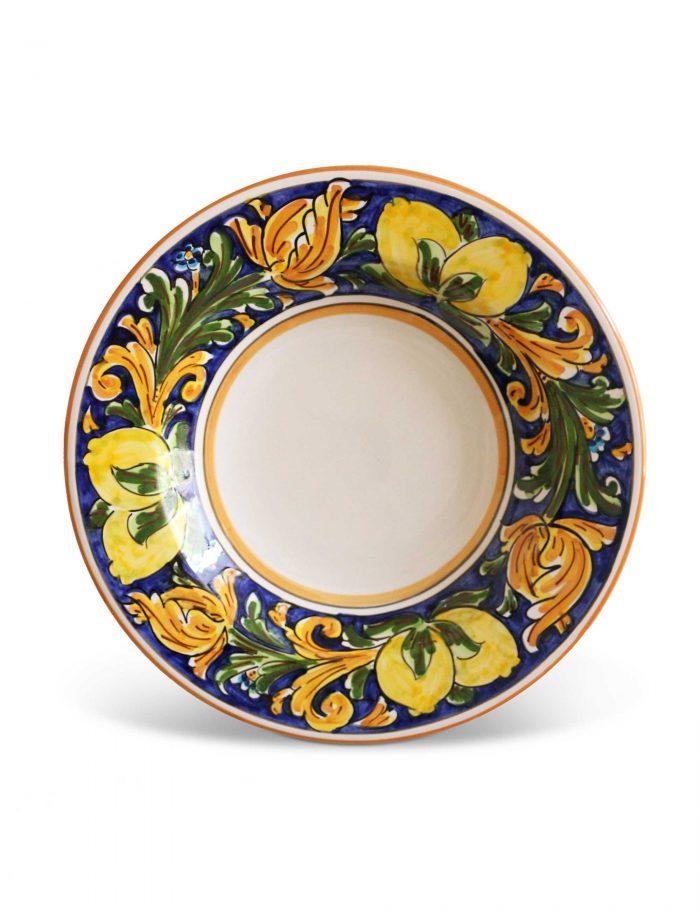 Piatto fondo ceramica siciliana PALERMO