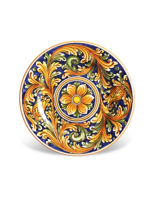 Piatto dessert ceramica siciliana PANAREA