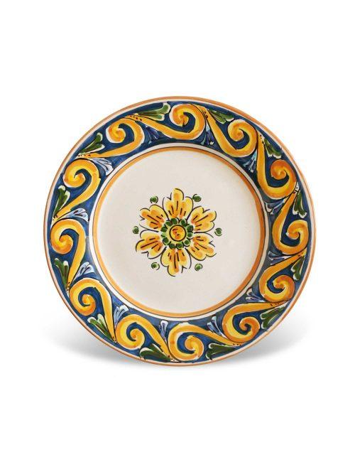piatto dessert ceramica siciliana decorata Pantelleria