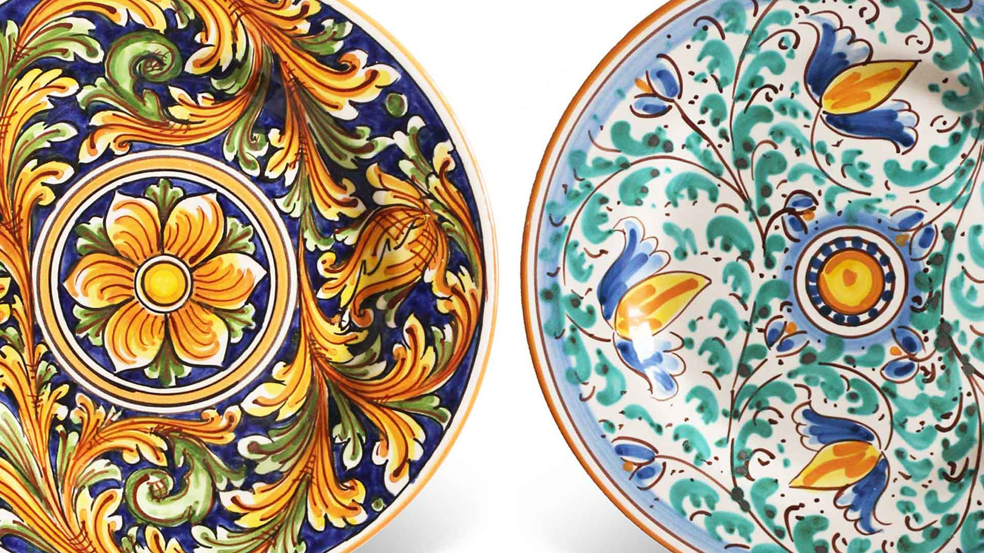 Piatti ceramica decorata
