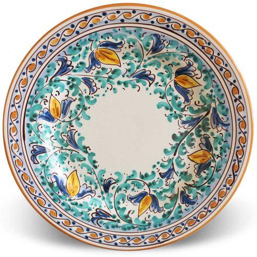 Piatti piani ceramica Caltagirone