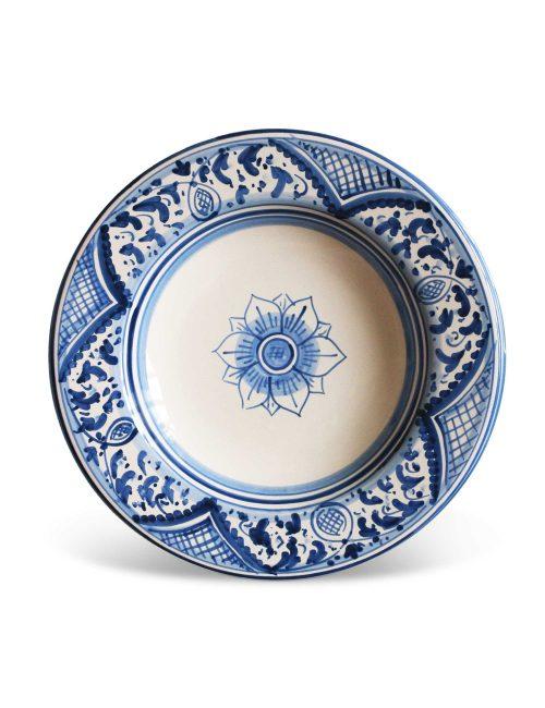 Piatto fondo ceramica siciliana RAGUSA