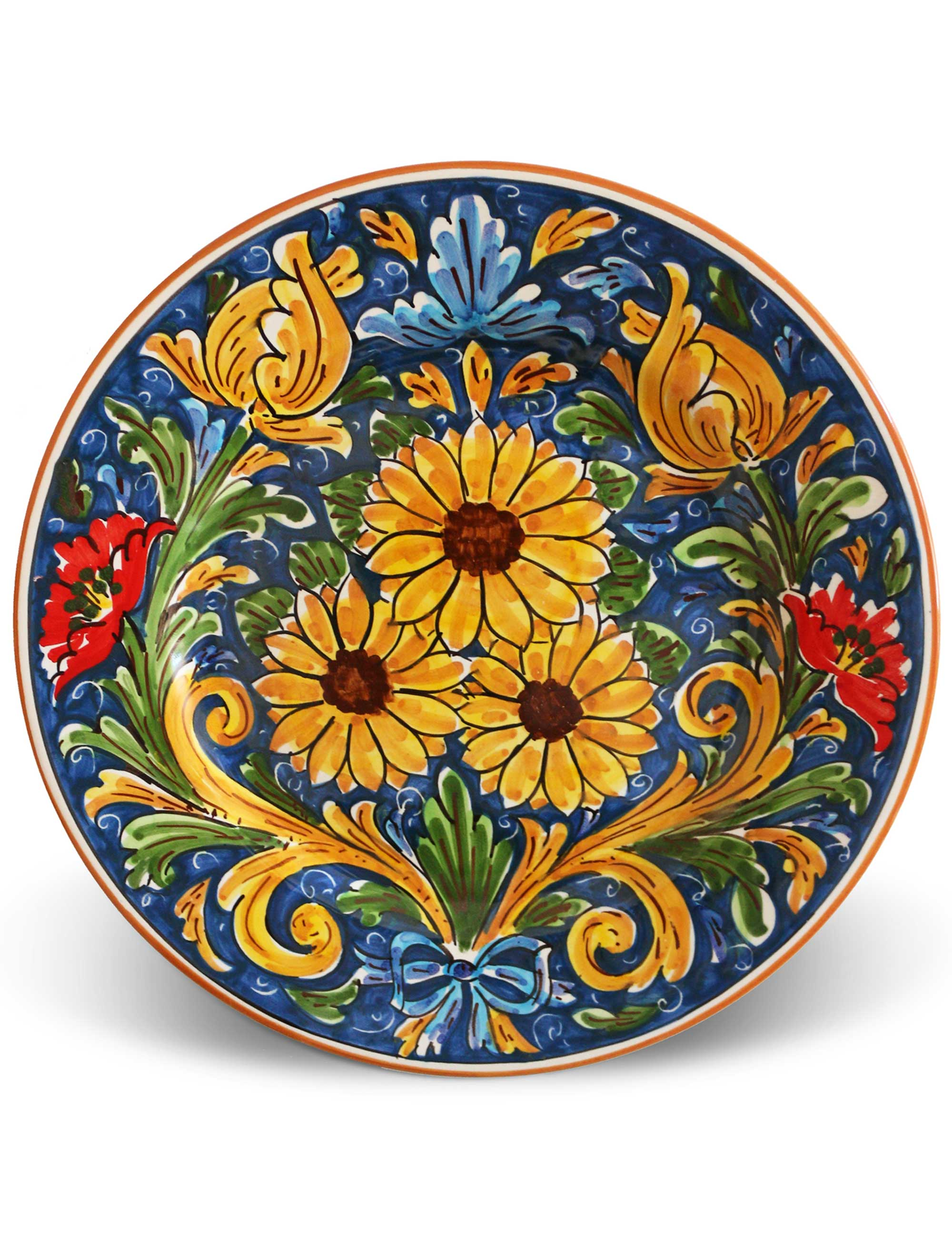 Flat plate Sicilian ceramic SCIACCA  sc 1 st  Ceramiche Caltagirone Maremoro & FLAT PLATE SICILIAN CERAMIC - SCIACCA   Maremoro