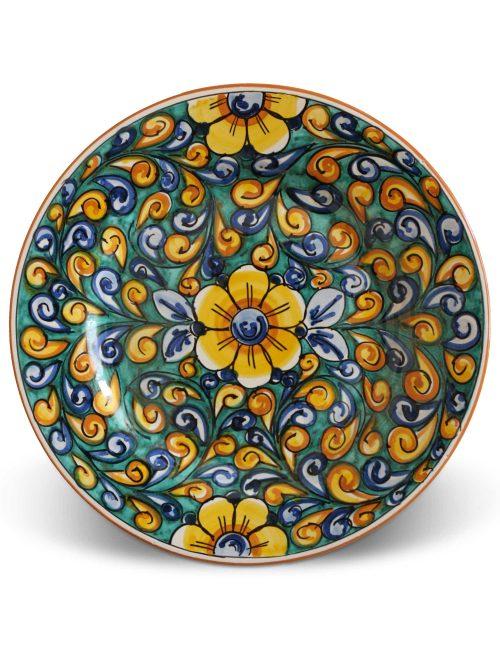 Piatto piano ceramica siciliana SIRACUSA