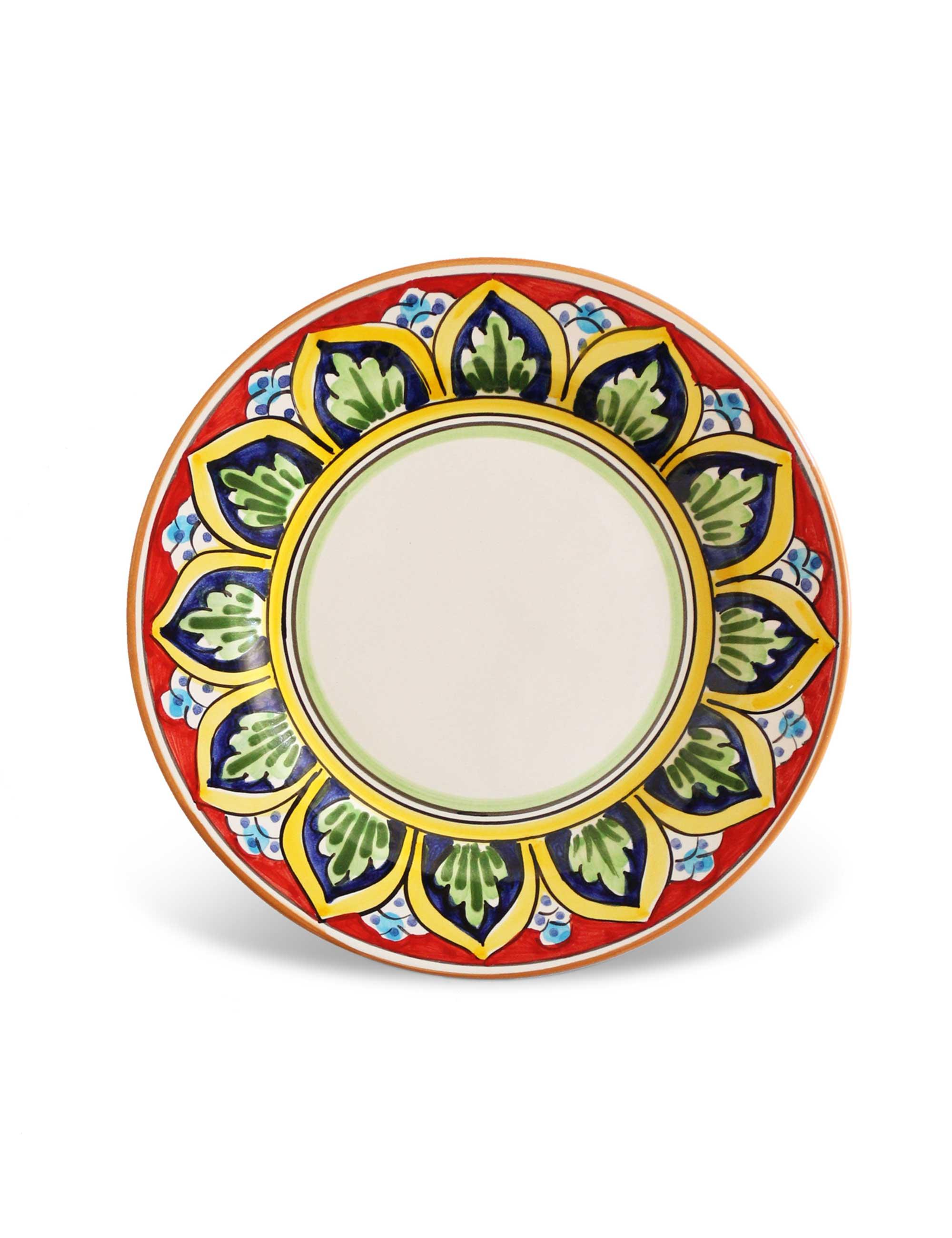 dessert plate sicilian ceramic vulcano  sc 1 st  Ceramiche Caltagirone Maremoro & DESSERT PLATE SICILIAN CERAMIC - VULCANO