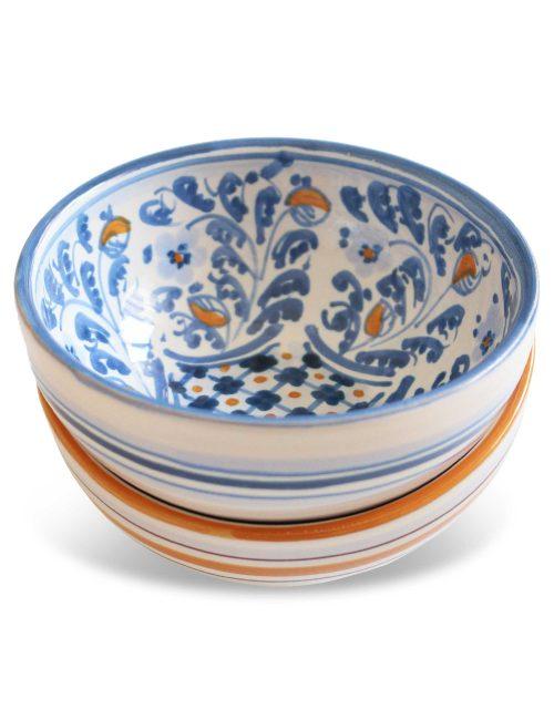 coppa ceramica artistica siciliana Floridia ideale per colazione tapas aperitivo antipasti