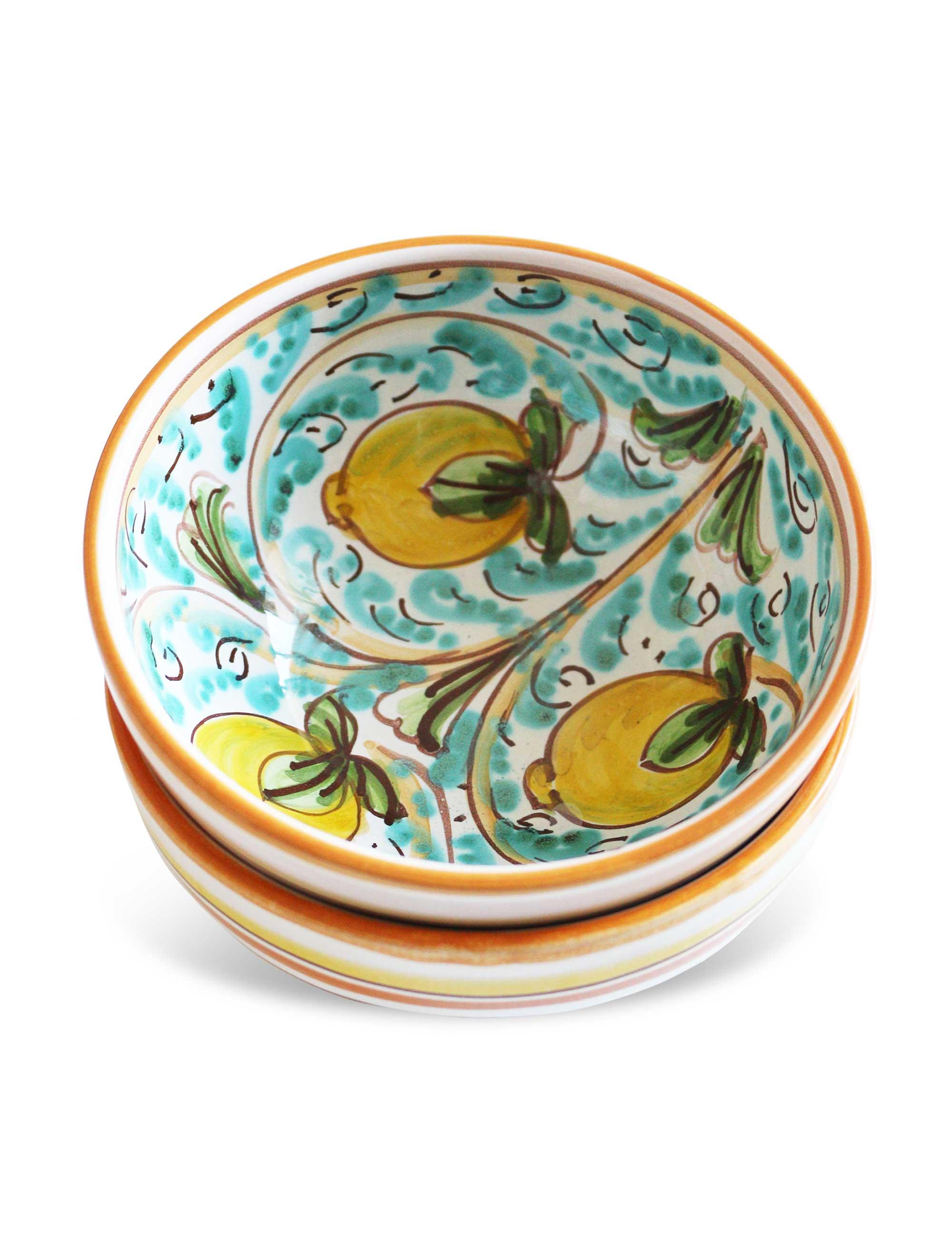 Coppa ceramica decorata siciliana-Bagheria per aperitivo antipasto tapas zuppe