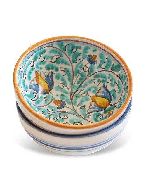 coppa ceramica decorata siciliana Castelmola tapas aperitivo e antipasti