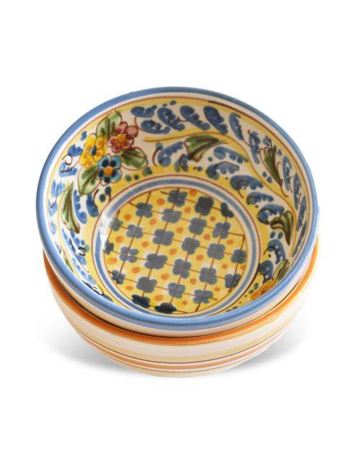 coppa ceramica siciliana Vittoria per antipasti aperitivi tapas frutta macedonia