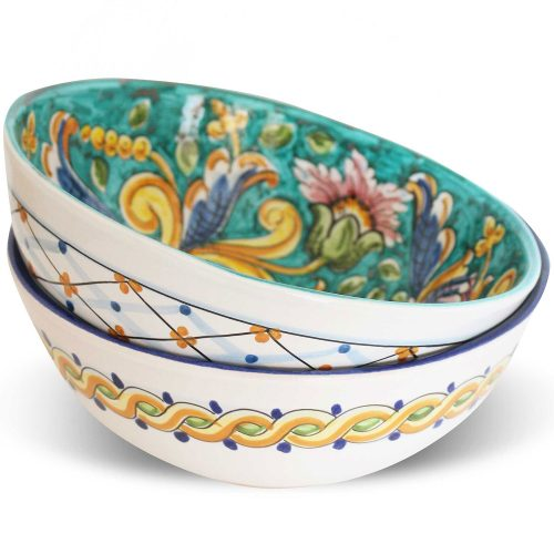 Insalatiere decorate ceramica Caltagirone