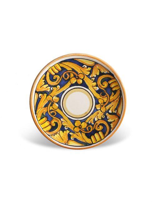 Piattino ceramica siciliana decorata Piazza Armerina