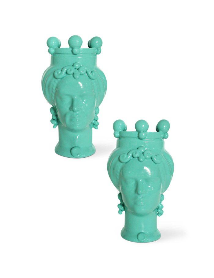 teste di moro dimensione piccola colore verde acqua picciotti innamorati