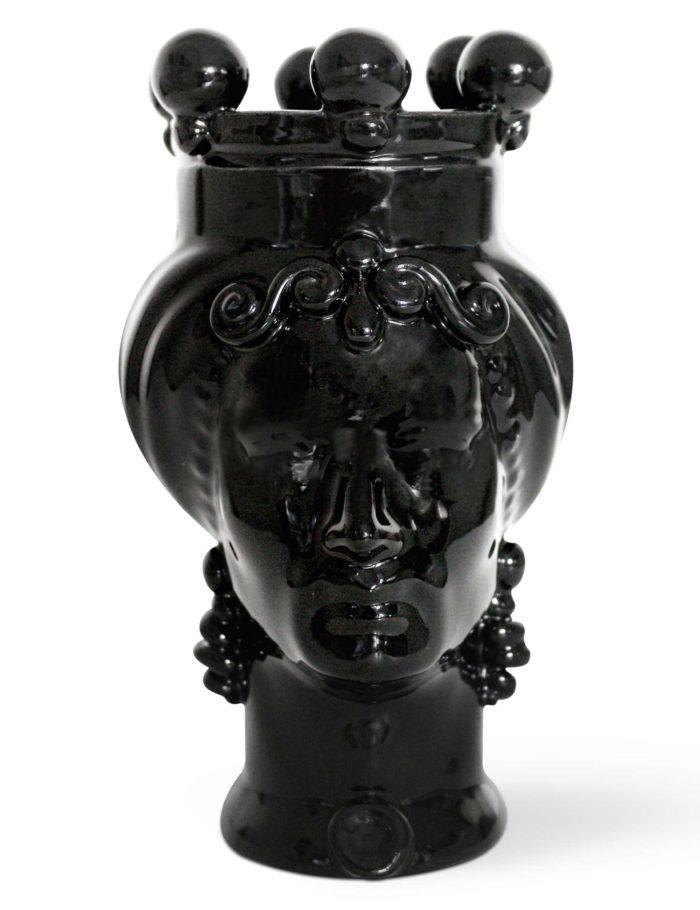 testa di moro uomo colore nero ceramica siciliana