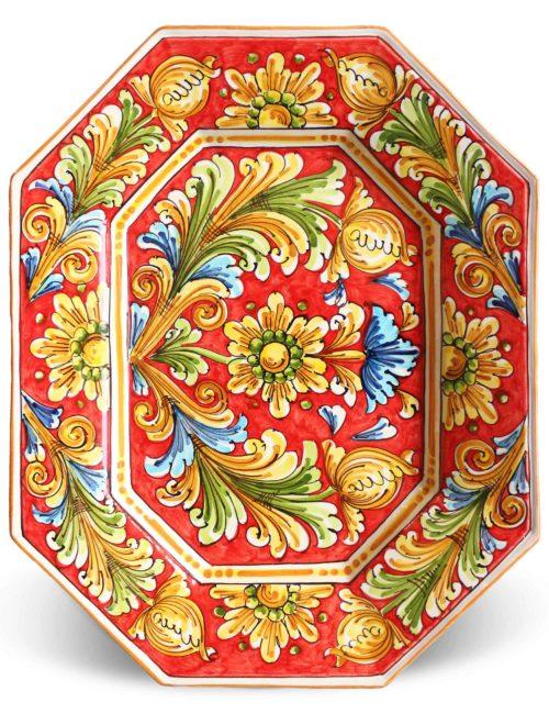 piatto da portata ceramica siciliana