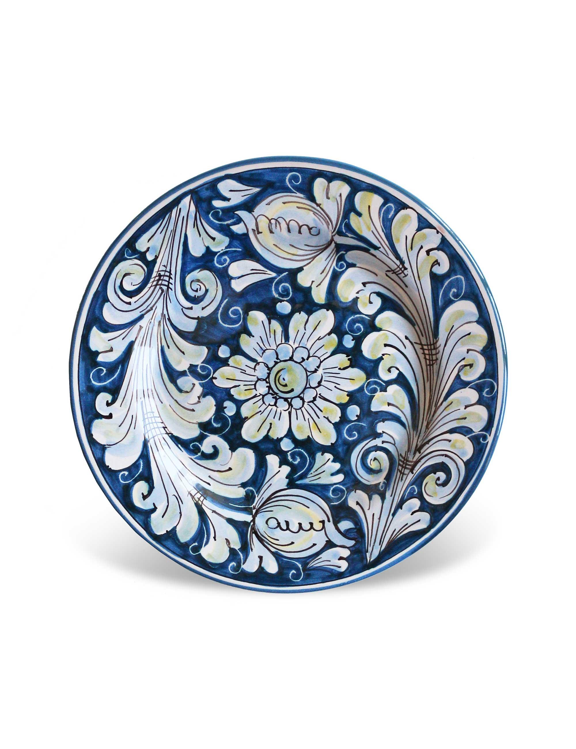 piatto dessert ceramica siciliana Porto Empedocle