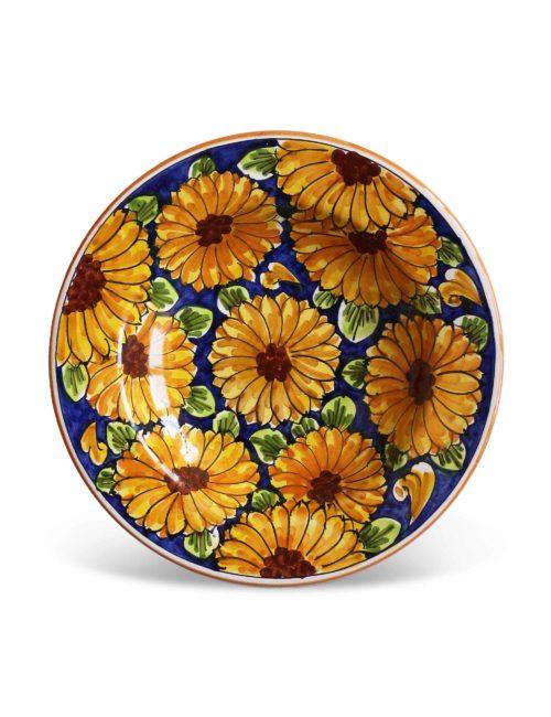 piatto fondo ceramica caltagirone castroreale