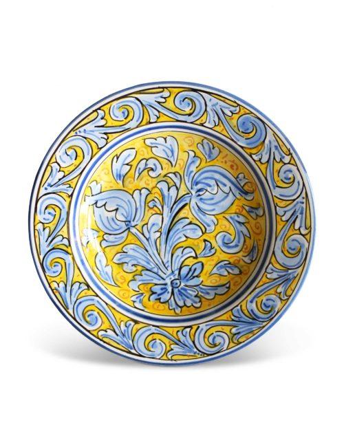 piatto fondo ceramica artistica siciliana Milo