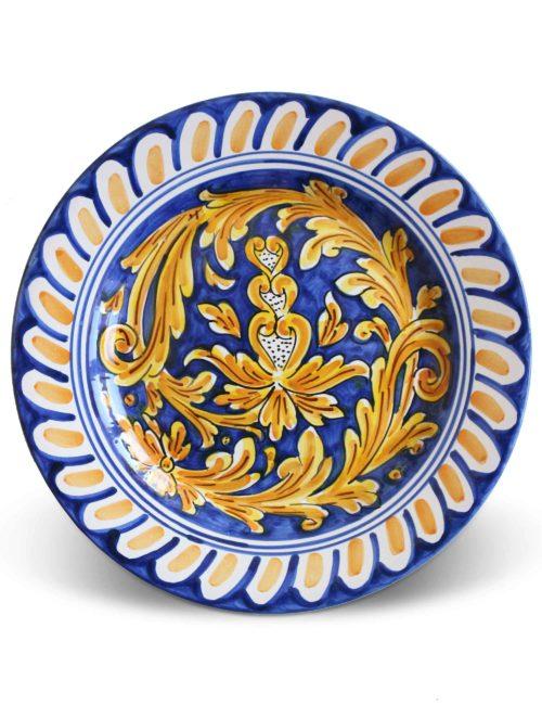 piatto piano ceramica caltagirone ginostra