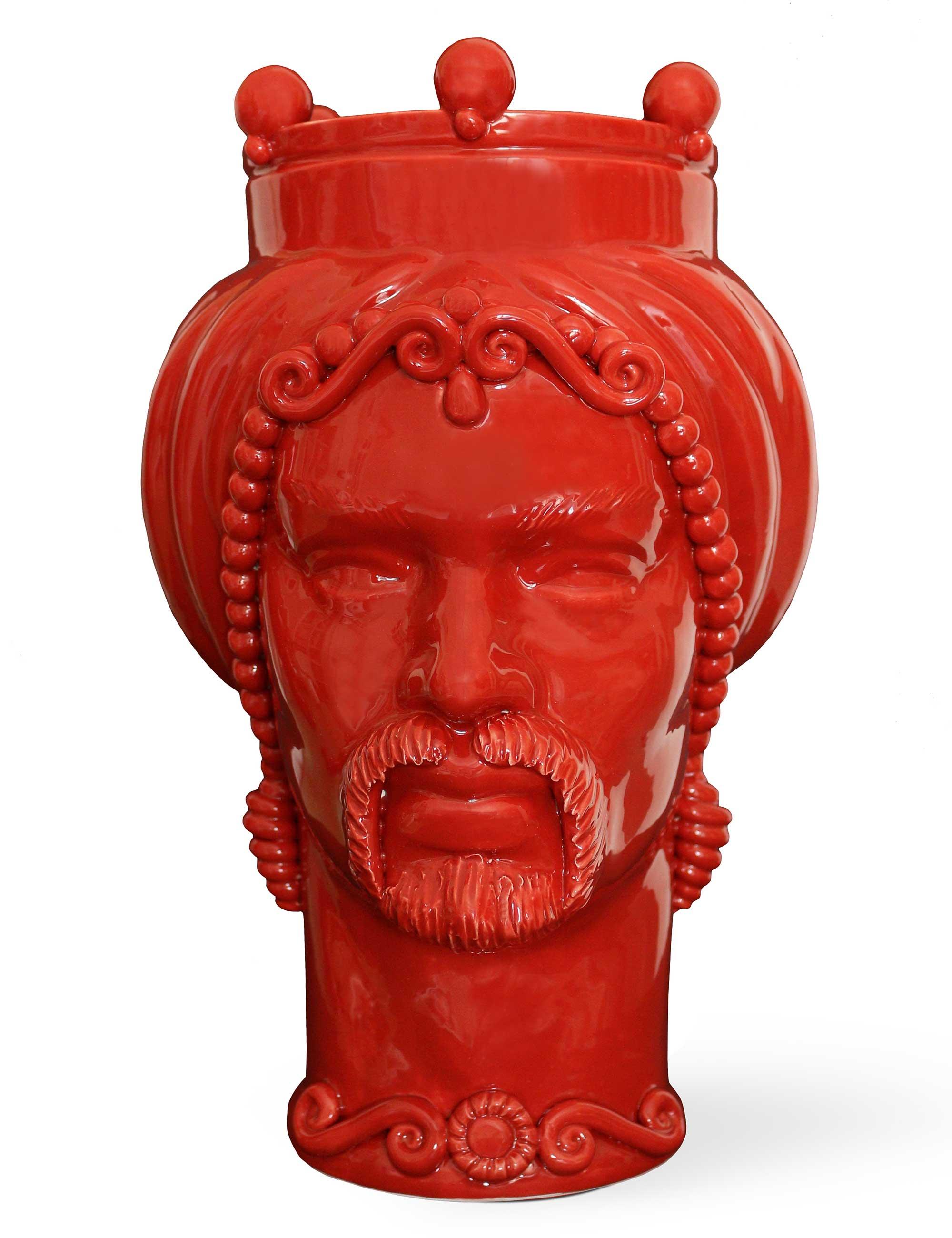 testa di moro uomo misura grande colore rosso
