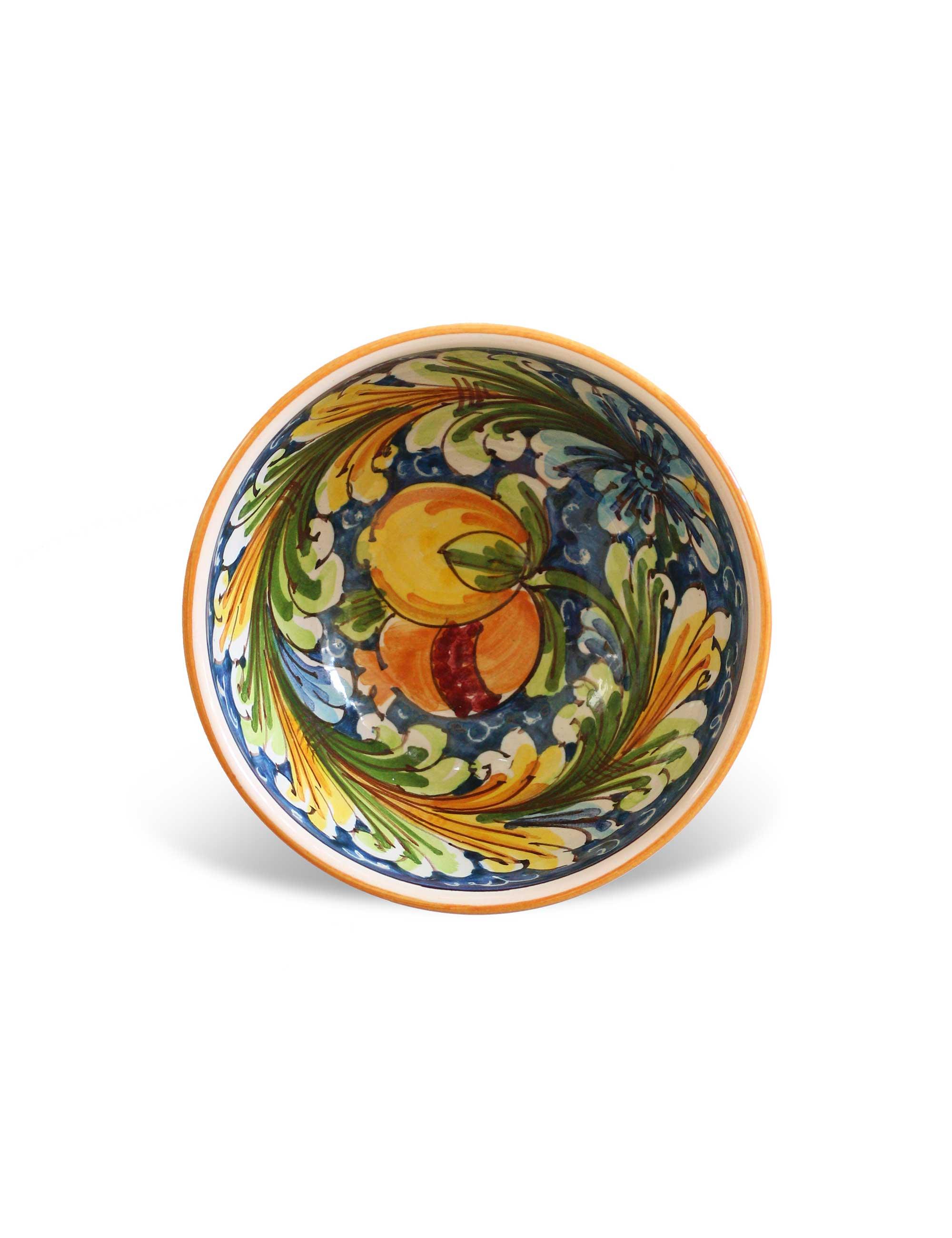 Coppa ceramica siciliana Castronovo