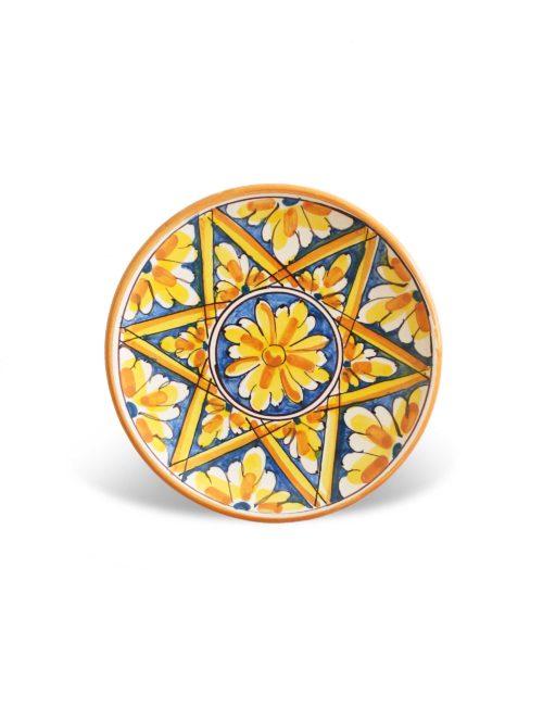 Piattino ceramica artigianale siciliana-Ribera