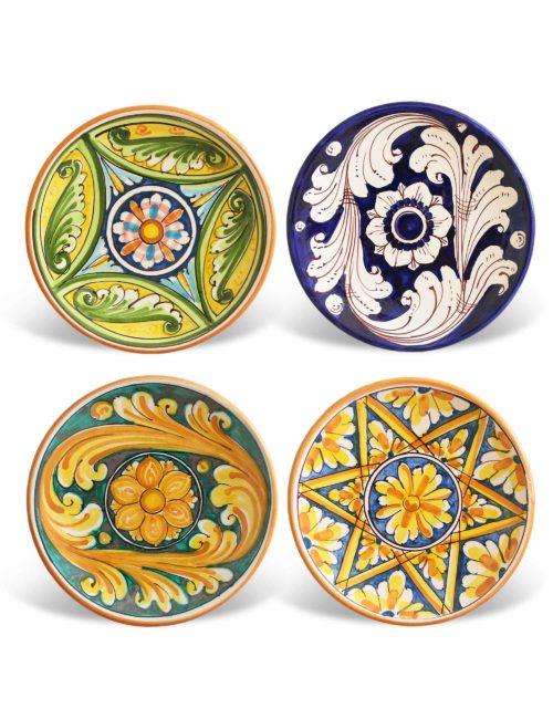 Set 4 piattini ceramica Caltagirone-Mazzarino